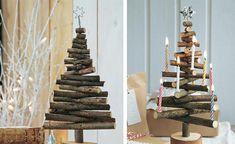 """Dieser kleine Baum entstand aus Resten – jetzt ziert er zur Adventszeit das Haus. Selbstgebasteltes kommt immer gut an: Richtet man die einzelnen """"Zweige"""" des Bäumchens versetzt übereinander aus, können noch Kerzen, kleine Weihnachtskugeln und anderer Adventsschmuck befestigt werden. Wer es glamouröser liebt, malt oder sprüht das Bäumchen weiß oder farbig an und wickelt eine kurze LED-Mini-Lichterkette um die Äste."""