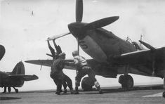 Operation Dragoon, Royal Navy Aircraft Carriers, George Clarke, Supermarine Spitfire, Flight Deck, Ww2 Aircraft, Airplanes, Fighter Jets, Engine