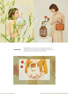 Can shoot the flower only and put it as a background Website Design Layout, Web Layout, Layout Design, Lookbook Layout, Lookbook Design, Online Web Design, Web Design Company, Editorial Layout, Editorial Design