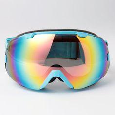 NEW SKI Glasses Snowboard Goggles Double Lens Antifog UV400 Polycabonate 2800BLU | eBay
