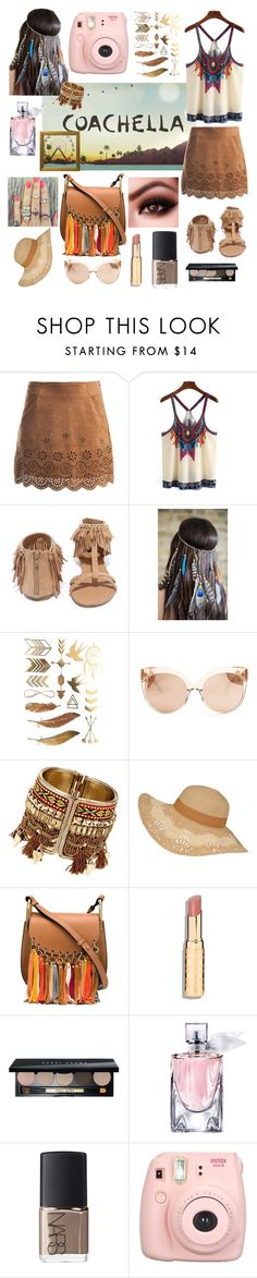 """Pack for Coachella :#packforcoachella"" by sarah-charles-1 ❤ liked on Polyvore featuring Sans Souci, Qupid, Linda Farrow, Chloé, Bobbi Brown Cosmetics, Lancôme and NARS Cosmetics"