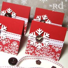 Stampin Up Snowflake Punch | Some quick and easy 3x3 Snowflake cards
