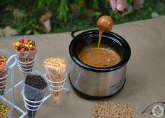 Mini Caramel Apple Fondue- great for a Fall party