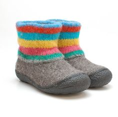 Felt wool boots Colors felted by WoolenClogs,