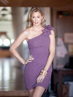 cbab5c602e Purple bridesmaid dress Style 5024 Short Color Shown  Cranberry Fabric   Chiffon Private Label By. Fall Wedding DressesCheap ...