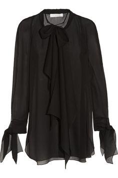 ChloéPussybow mousseline blouse