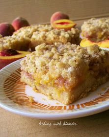 Baking with Blondie : Peach Crumble Bars