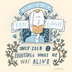 Starving artist #randomillustratedfacts #sketchbook #vangogh by mikelowerystudio