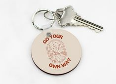Go Your Own Way - Keychain | EMPOWERHAUS Breast Cancer Survivor, Breast Cancer Awareness, Go Your Own Way, Gift Ideas, Personalized Items, Business, Gifts, Presents, Store