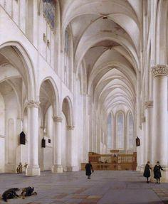 pieter jansz. saenredam(1597–1665), the interior of the church of st catherine, utrecht, 1636. oil on oak panel, 117 x 96 cm. national trust, uk http://www.bbc.co.uk/arts/yourpaintings/paintings/the-interior-of-the-church-of-st-catherine-utrecht