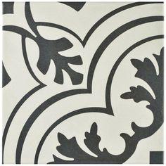 Twenties Vintage Painted Tile