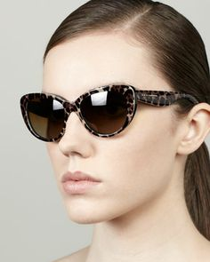 Leopard-Print Polarized Sunglasses by D&G at Bergdorf Goodman. $275