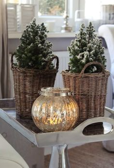 Mercury glass and Christmas~pretty