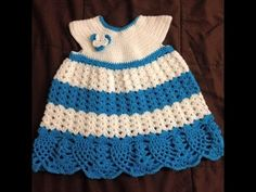 Baby dress - Skirt crochet tutorial Tamil/English - YouTube