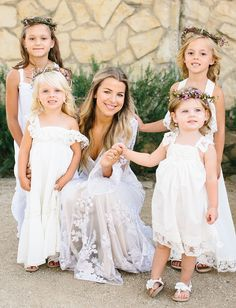 bridal inspiration / bridal hair and makeup / flower girl inspiration / deep gem-tone palette and wildflowers and macrame wedding Flower Girls, Flower Girl Photos, Cheap Flower Girl Dresses, Courthouse Wedding Photos, Country Wedding Photos, Courthouse Marriage, Country Weddings, Team Bride, Wedding With Kids