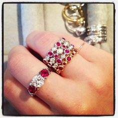 For July birthdays and ruby lovers, Jane Taylor has some jewelry to add to your wish list ;)