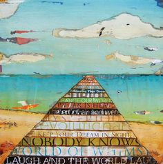 Inspirational Words, Make Every Word Count Quotes, Ocean Dock at the Beach Art by dannyphillipsart, $18.00