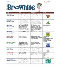 good meeting schedule template for leaders & parents