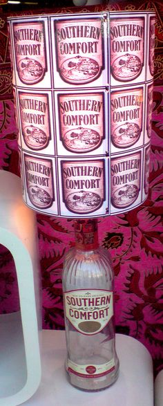 Southern Comfort Recycled Bottle Lamp £21.95 on #Folksy
