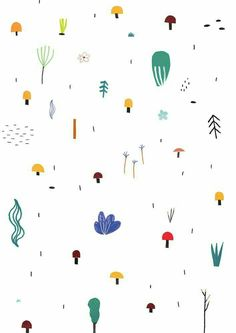 Too cute pattern design by Agata Królak - Mushroom Picking Kids Patterns, Textures Patterns, Print Patterns, Design Patterns, Pattern Illustration, Graphic Design Illustration, Surface Pattern Design, Pattern Art, Cute Pattern
