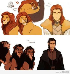Funny pictures about If Mufasa and Scar were men. Oh, and cool pics about If Mufasa and Scar were men. Also, If Mufasa and Scar were men. Disney Pixar, Film Disney, Disney Memes, Disney Fan Art, Disney Animation, Disney And Dreamworks, Disney Cartoons, Disney Love, Disney Magic