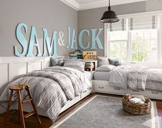 Rethinking How We Use our Space: A Shared Bedroom and a Family Craft Space? - The Happy Housie ideas for small rooms for boys for kids space saving Rethinking How We Use our Space: A Shared Bedroom and a Family Craft Space? Girls Bedroom, Bedroom Decor, Boys Bedroom Colors, Boys Bedroom Furniture, Bedroom Bed, Bedroom Storage, Furniture Sale, Bedding Storage, Diy Kids Furniture