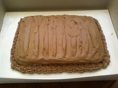 Chocolate chunk Devils Food Cake with Chocolate Creamcheese Frosting