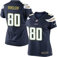 Nike Elite Kellen Winslow Navy Blue Women s Jersey - Los Angeles Chargers  80  NFL Home 7724a23ea