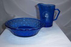Vintage Hazel Atlas Shirley Temple Glassware Cup and Bowl Set 1930's Depression | eBay