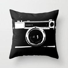 Camera Throw Pillow by Maressa Andrioli   Society6