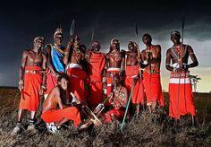 Maasai Cricket Team - El equipo de cricket de la tribu Maasai posa para esta fotografía en el parque nacional Laikipia, antes de competir en un torneo internacional que se realizará en el Reino Unido. (AFP)