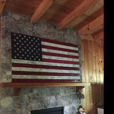 american flag art The listing is for a very distressed Mini American Flag made from reclaimed wood! It measures approximately long, wide, thick. This American flag is mad Rustic Wooden American Flag, American Flag Pallet, American Flag Wall Art, Wooden Flag, American Art, Pallet Flag, Pallet Signs, Log Home Interiors, Flag Painting