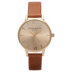 Buy Olivia Burton Women's Midi Dial Leather Strap Watch | John Lewis