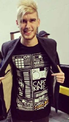 Colton Dixon with his Capital Kings Shirt.. Leah hugged me when she saw this.... Can you tell she likes Capital Kings