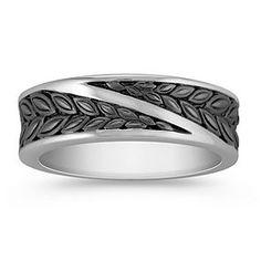 14k White Gold Ring for Him (6mm)
