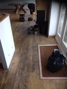 Tired and worn looking oak floorboards