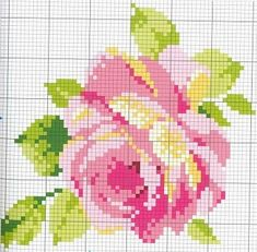 rose cross stitch pattern (right size) Cross Stitch Rose, Cross Stitch Flowers, Cross Stitch Charts, Cross Stitch Designs, Cross Stitch Patterns, Bead Patterns, Cross Stitching, Cross Stitch Embroidery, Hand Embroidery
