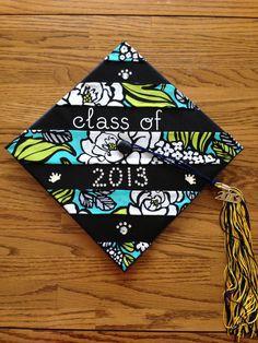 My college graduation cap made from a Vera Bradley napkin! @Vera Kulikova Kulikova Bradley