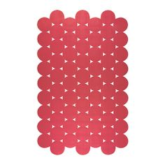 """IKEA PS 2012 rug, flatwoven, red Length: 9 ' 10 """" Width: 6 ' 1 """" Surface density: 4 oz/sq ft Length: 300 cm Width: 186 cm Surface density: 1320 g/m² Ikea Ps 2012, Ikea Us, Room Rugs, Rugs In Living Room, Sconces Living Room, Coverlet Bedding, Latex, Geometric Rug, Rugs"""