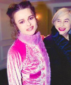 Helena Bonham Carter and her mother