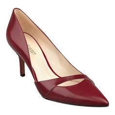 """As seen in the August issue of InStyle and September issue of Family Circle, Kimery is an eye-catching, pointy toe pump resting on a 3"""" heel. But we'll let one of our customers say it best for us, """"This pump is unique looking as well as being comfortable right out of the box! It is a nice change from the usual boring black leather pump. I bought the black leather in my usual size 6.5; and the pair fit perfectly. I love the 3 inch heel. It isn't too high or too low. It is just right."""" Is it…"""