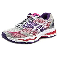 ASICS Womens GelNimbus 17 Running ShoeLightningWhiteHot M US    You can get  additional details at the image link-affiliate link. Sports Shoes 9def7a91e27a