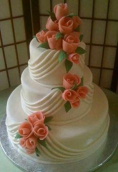 "Wedding Cake: How To Pick The Best One - ""Hochzeitskuchen"" - Wedding Cakes Elegant Wedding Cakes, Elegant Cakes, Beautiful Wedding Cakes, Gorgeous Cakes, Wedding Cake Designs, Pretty Cakes, Amazing Cakes, Cake Wedding, Trendy Wedding"