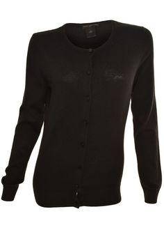 Ann Taylor Cardigan Sweater XS-L Long Sleeve Button Front Lightweight Black NEW #AnnTaylor #Cardigan