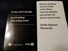 "Yep. That pretty much sums it up! | 24 Times ""Cards Against Humanity"" Was Too Real"
