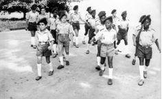 Campamentos de la OJE en la Guinea Española. La falange y el movimiento nacional