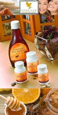 Forever Bee Products: bee pollen: ryke bron van energie, wordt gemakkelijk door het lichaam opgenomen. bee propolis: bevordert de natuurlijke weerstand royal jelly: ondersteunt een gezonde huid, bevat een hoog vitaminegehalte! bee honey: ondersteunt een gezonde spysvertering, levert een extra energie. Allen natuurlijke producten zonder conserveringsmiddelen, smaak-en kleurstoffen!https://www.foreverliving.com/retail/entry/Shop.do?store=BEL&language=nl&distribID=310002029267