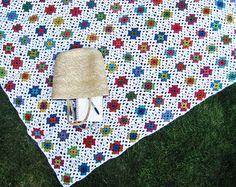 Granny Square blanket // crochet