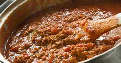 Aprende a preparar esta receta de Salsa boloñesa autentica, por elgourmet.com en elgourmet
