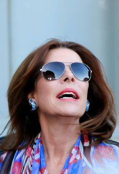 Princess Caroline of Hanover attend the opening of the 30th International Festival Of Fashion and Photography on April 23, 2015 in Hyeres, France.